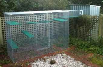 slimline palace outdoor cat enclosures